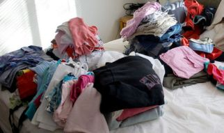 clothes hoarding
