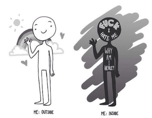 Depressed Cartoon
